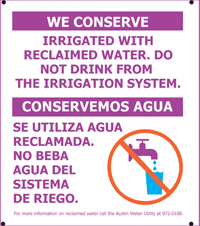 Do not drink from the irrigation service image