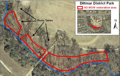 Map fo Dittmar District Park