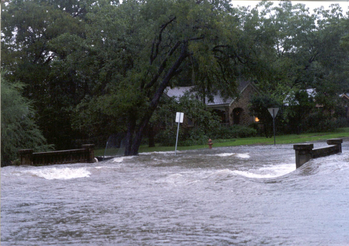 Flooding of Waller Creek in 1998