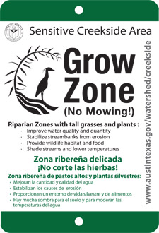 "A  ""Grow Zone"" is an effort to halt mowing along streams and allow the growth of more dense, diverse riparian vegetation."