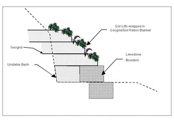 Conceptual Streambank Stabilization Design