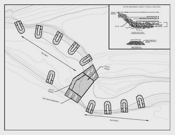 Bendway Weir Design Drawing