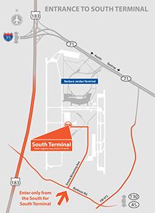 south terminal map