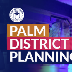 Palm District Planning banner and logo