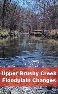 Upper Brushy Creek Floodplain Changes